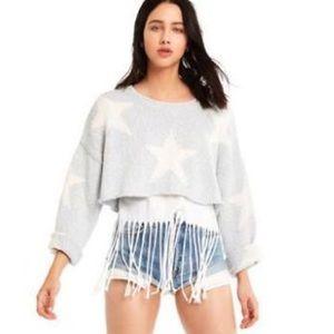 Wildfox star crop sweater sz. M